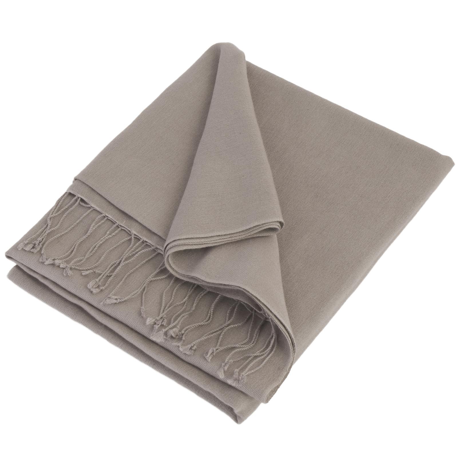 Pashmina Stole - 70x200cm - 100% Cashmere - Steeple Grey