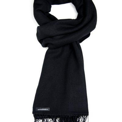 Pashmina Stole - 70x200cm - 100% Cashmere - Black