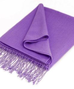 Pashmina Stole - 70x200cm - 100% Cashmere - Purple Haze