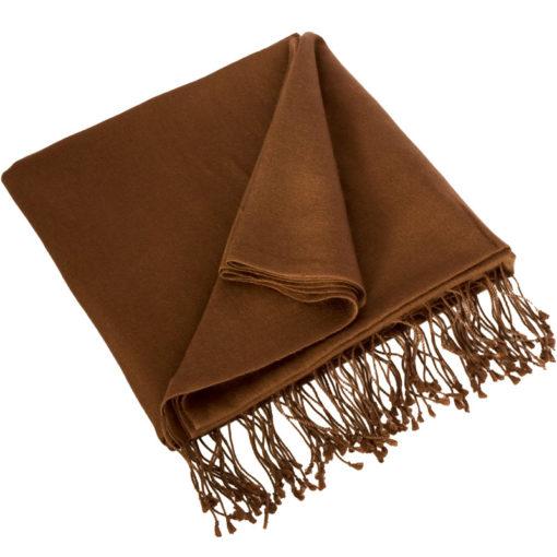 Pashmina Stole - 70x200cm - 100% Cashmere - Cocoa Brown