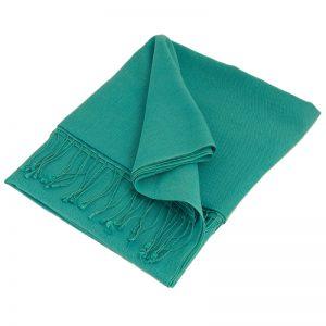 Pashmina Stole - 70x200cm - 100% Cashmere - Blue Mist
