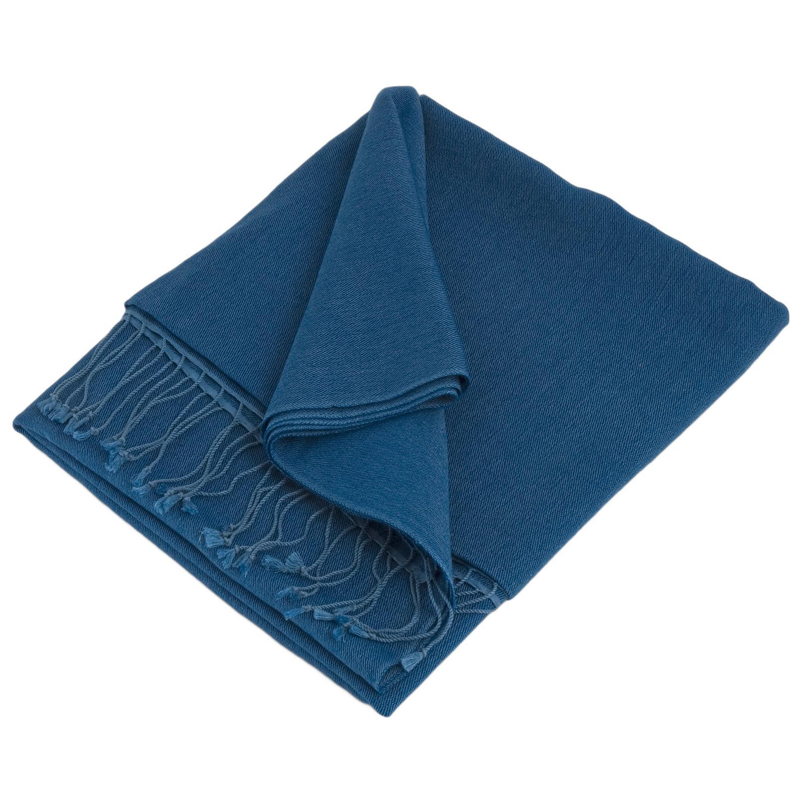 Pashmina Stole - 70x200cm - 100% Cashmere - Princess Blue