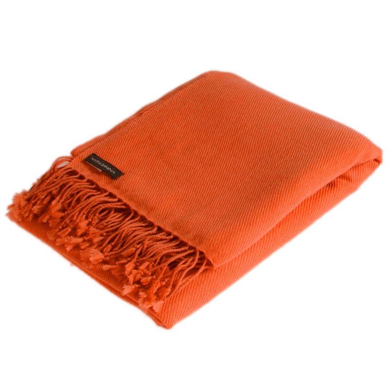 Pashmina Shawl - 90x200cm - 100% Cashmere - Harvest Pumpkin