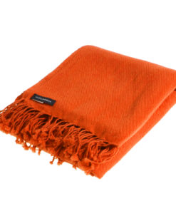 Pashmina Shawl - 90x200cm - 100% Cashmere - Spicy Orange