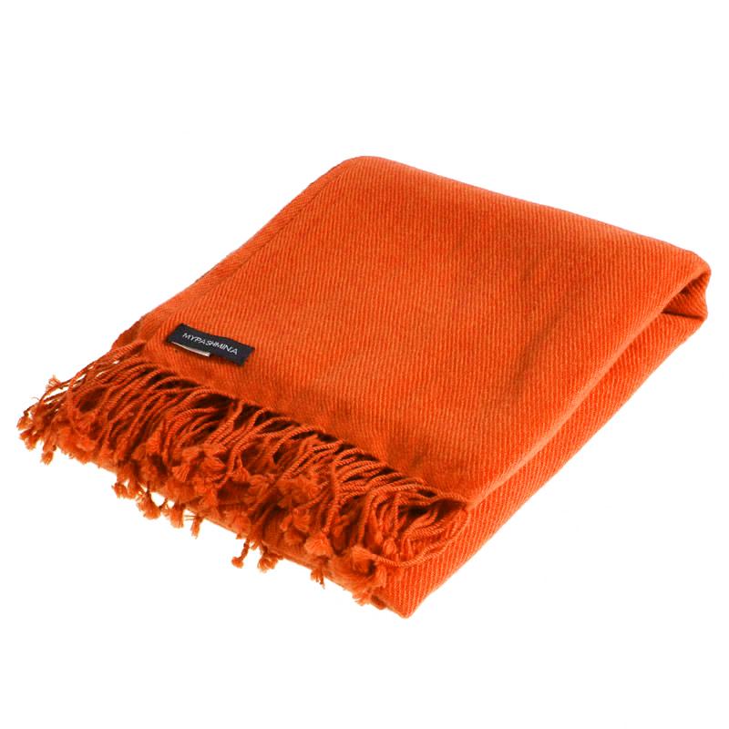Pashmina Shawl - 90x200cm - 100% Cashmere - Spicy Orange