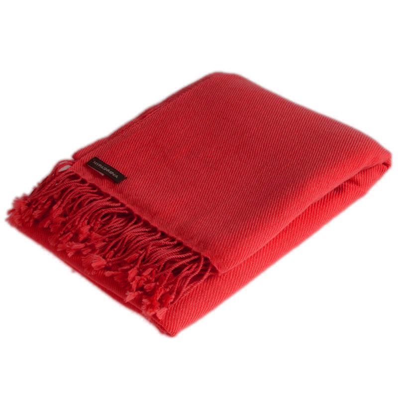 Pashmina Shawl - 90x200cm - 100% Cashmere - Fiery Red