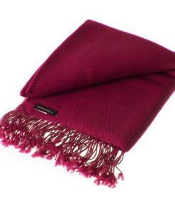 Pashmina Shawl - 90x200cm - 100% Cashmere - Rhododendron