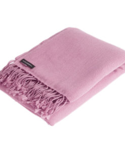 Pashmina Shawl - 90x200cm - 100% Cashmere - Withered Rose