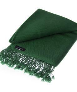 Pashmina Shawl - 90x200cm - 100% Cashmere - Duck Green