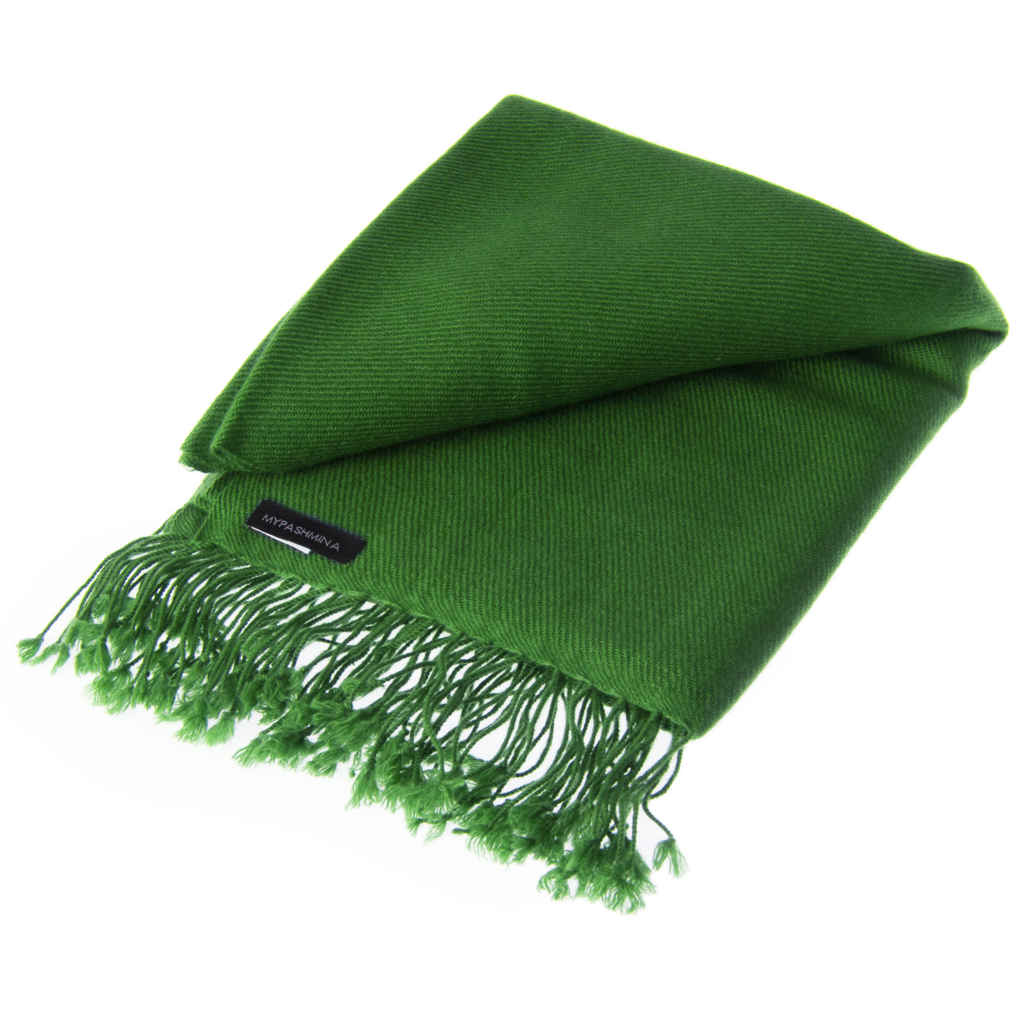 Pashmina Shawl - 90x200cm - 100% Cashmere - Forest Green
