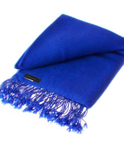 Pashmina Shawl - 90x200cm - 100% Cashmere - Princess Blue