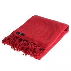 Pashmina Shawl - 90x200cm - 100% Cashmere - Pompeian Red