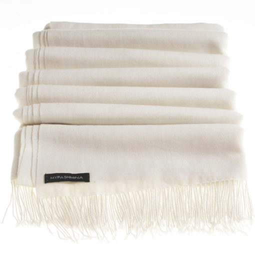 Pashmina with beaded tassels