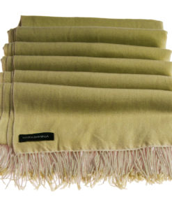 Pashmina Stole With Beaded Tassels - 70x200cm - Olivenite