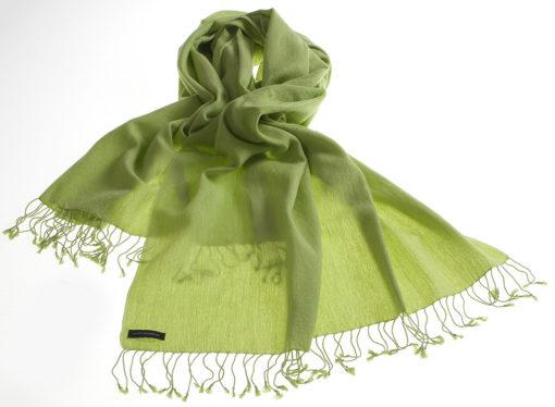 Pashmina Large Scarf - 45x200cm - 7030 - Jacquard - Lime Green