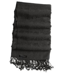 Pashmina Stole - 70x200cm - 7030 - Jacquard - Black