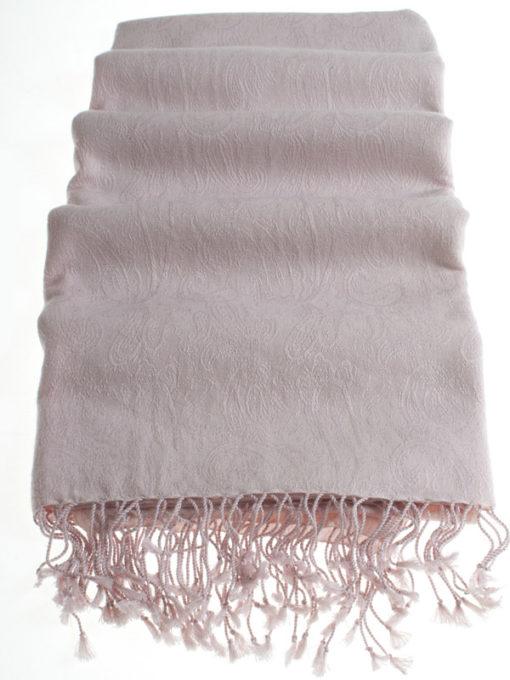 Pashmina Stole - 70x200cm - 7030 - Jacquard - Barely Pink