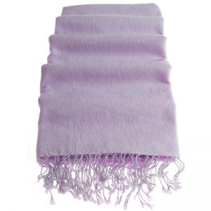 Pashmina Stole - 70x200cm - 7030 - Jacquard - Purple Heather