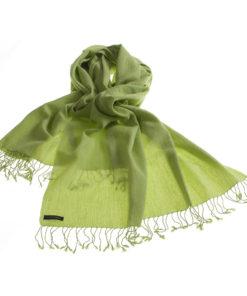 Pashmina Stole - 70x200cm - 7030 - Jacquard - Lime Green