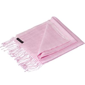 Jacquard Water Pashmina - 45x200cm - 80% Cashmere / 20% Silk - Pink Lady