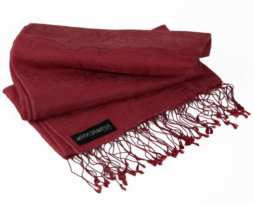Jacquard Water Pashmina - 70x200cm - 80% Cashmere / 20% Silk - Rhododendron