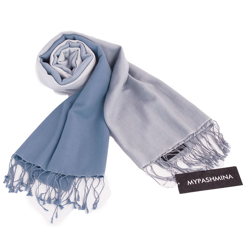 Shaded Pashmina - 70x200cm - 70%Cashmere / 30%Silk - Provence and Skyway