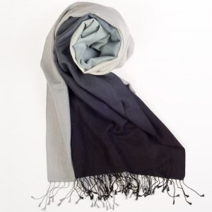 Shaded Pashmina - 70x200cm - 70%Cashmere / 30%Silk - Paloma and Jet Set