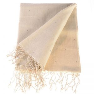 Pashmina stole with Swarovski Crystals - 70% Cashmere / 30% Silk