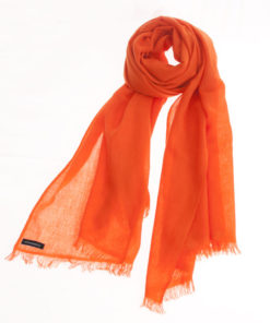 Pashmina Ring Stole - 70x200cm - No Tassels - Harvest Pumpkin mp19