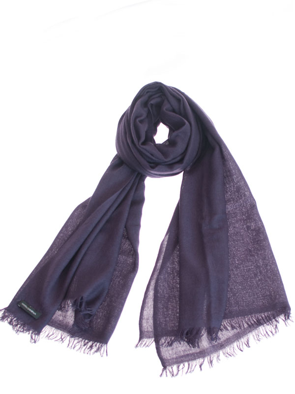 Pashmina Ring Stole - 70x200cm - No Tassels - Nightshade mp54
