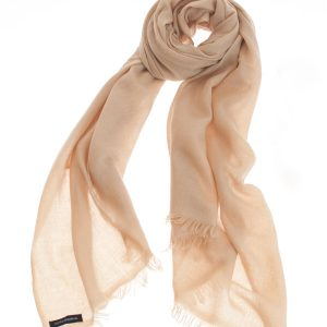 Pashmina Ring Stole - 70x200cm - No Tassels - Candied Ginger mp66