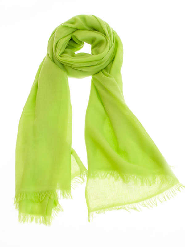 Pashmina Ring Stole - 70x200cm - No Tassels - Lime Green mp89
