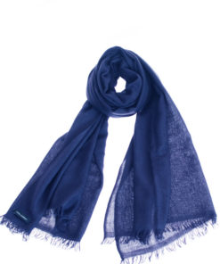 Pashmina Ring Stole - 70x200cm - No Tassels - Dark Navy mp120