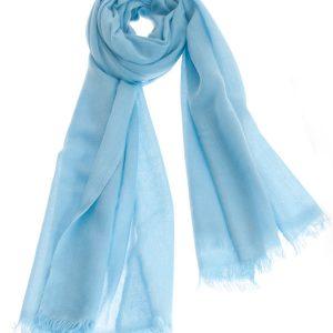 Pashmina Ring Stole - 70x200cm - No Tassels - Milky Blue mp123