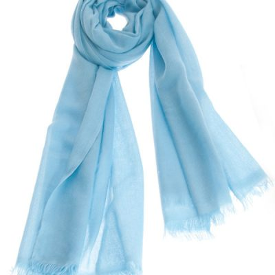 Pashmina Ring Stole - 70x200cm - No Tassels - Milky Blue mp123