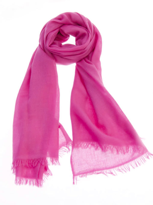 Pashmina Ring Stole - 70x200cm - No Tassels - Very Berry mp125