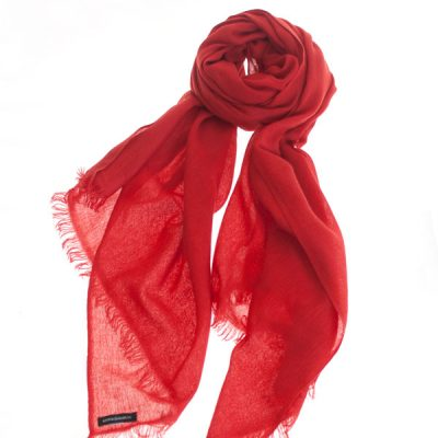 Pashmina Ring Stole - 70x200cm - No Tassels - Pompeian Red mp126