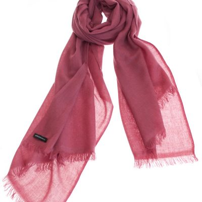 Pashmina Ring Stole - 70x200cm - No Tassels - Dry Rose mp127