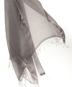 Pashmina Ring Shawl - 90x200cm - 100% Cashmere - Steeple Grey