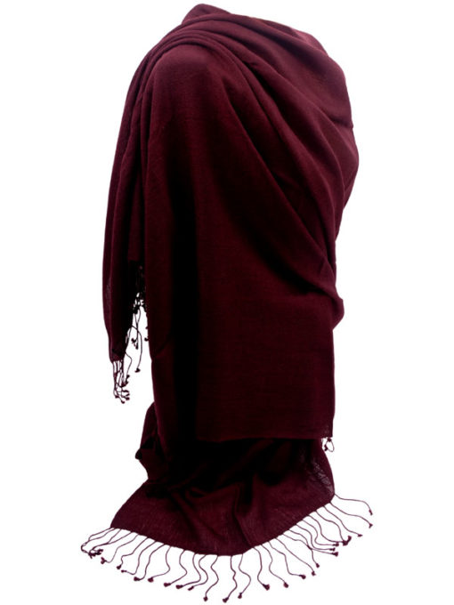 Pashmina Ring Shawl - 90x200cm - 100% Cashmere - Rhododendron