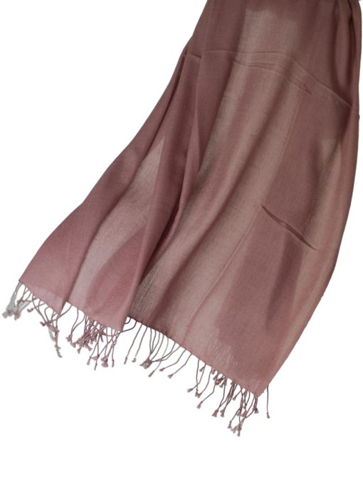 Pashmina Ring Shawl - 90x200cm - 100% Cashmere - Withered Rose