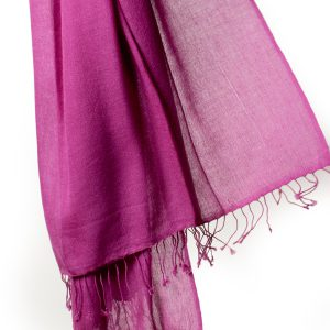 Pashmina Ring Shawl - 90x200cm - 100% Cashmere - Deep Orchid