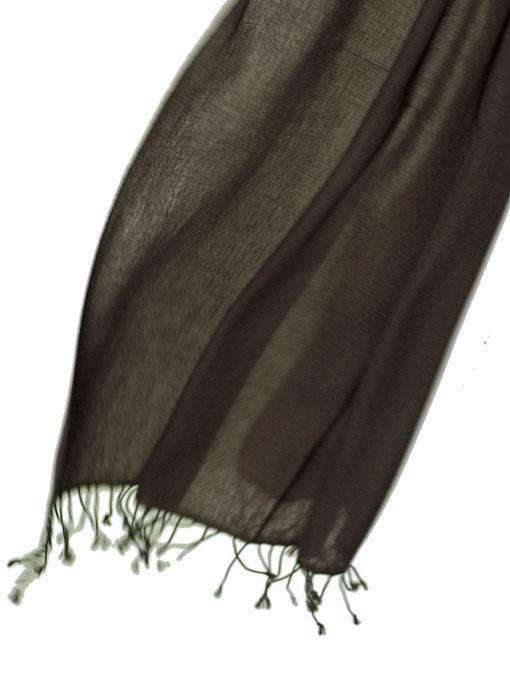 Pashmina Ring Shawl - 90x200cm - 100% Cashmere - Fudge