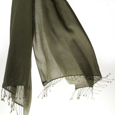 Pashmina Ring Shawl - 90x200cm - 100% Cashmere - Grape Leaf