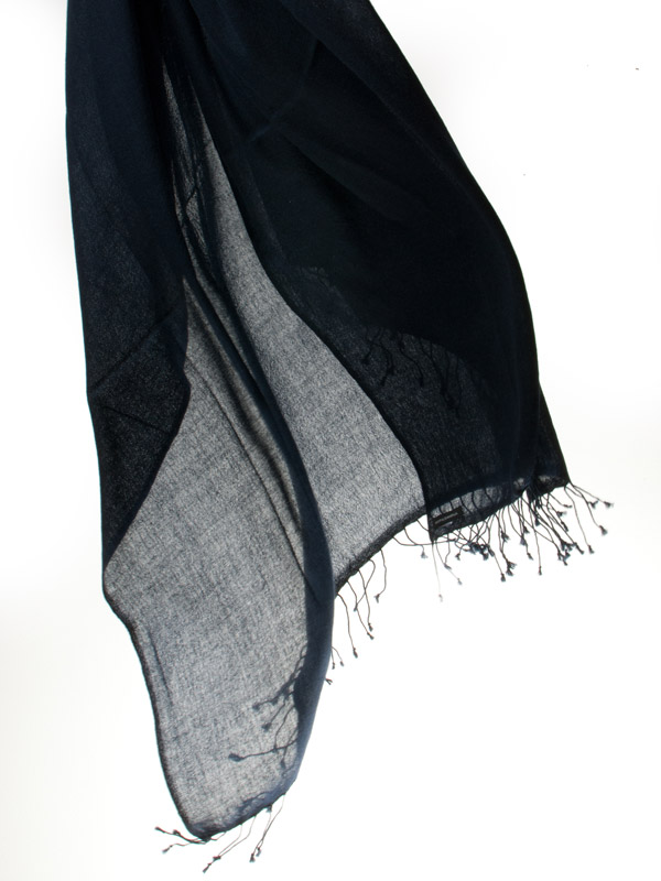 Pashmina Ring Shawl - 90x200cm - 100% Cashmere - Dark Navy