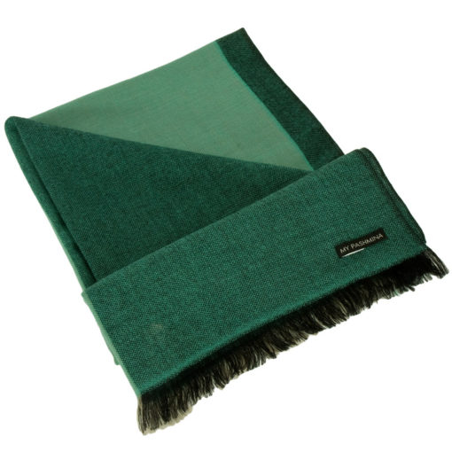 Pashmina - Superfine100count - 100% Cashmere - 50x180cm - Pea Green