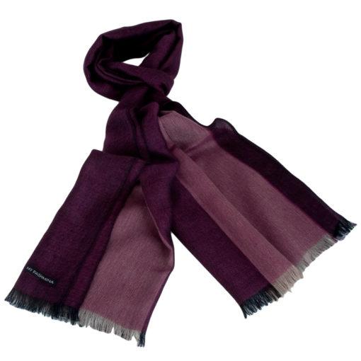 Pashmina - Superfine100count - 100% Cashmere - 50x180cm - Pink/Purple