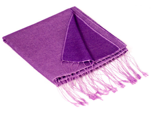 Reversible Pashmina Stole - 70x200cm - 8020 - Amethyst and Blackberry Cordial
