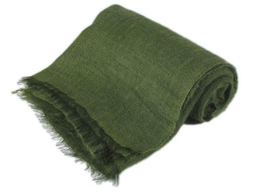 Angelweave Pashmina - 90% Cashmere / 10% Silk - 55x200cm - Mosstone
