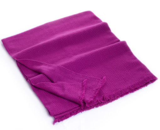 Winter Weight Wavy Shawl - Deep Orchid